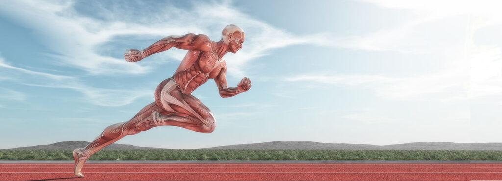 running skinned off man